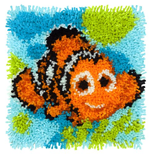 (Dimensions Disney Finding Nemo Latch Hook Craft Kit for Kids, 12'' x 12'')