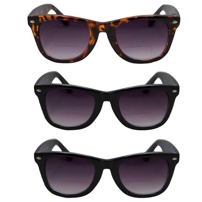 Amazon.com: 3 pares de gafas de sol clásicas bifocales para ...