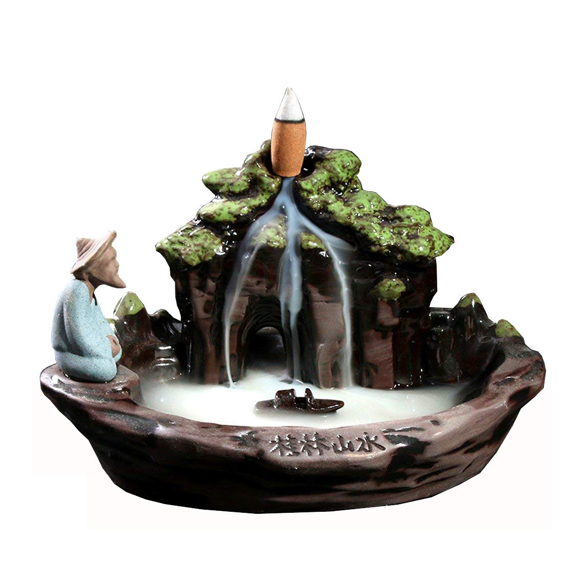 MeiHao Ceramic Backflow Incense Holder Incense Incense Burner Cones Stick Holder for Home Office Decor by MeiHao