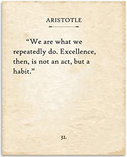 product image for Aristotle - We Are What We Repeatedly Do - 11x14 Unframed Typography Book Page Print - Great Inspirational Gift and Decor Under $15