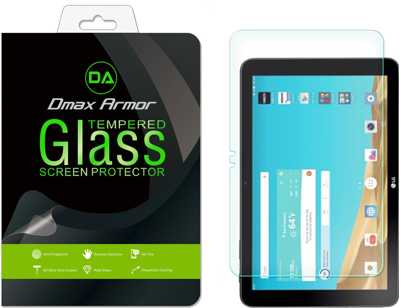 [2-Pack] Dmax Armor for LG G Pad X 10.1 [Tempered Glass] Screen Protector