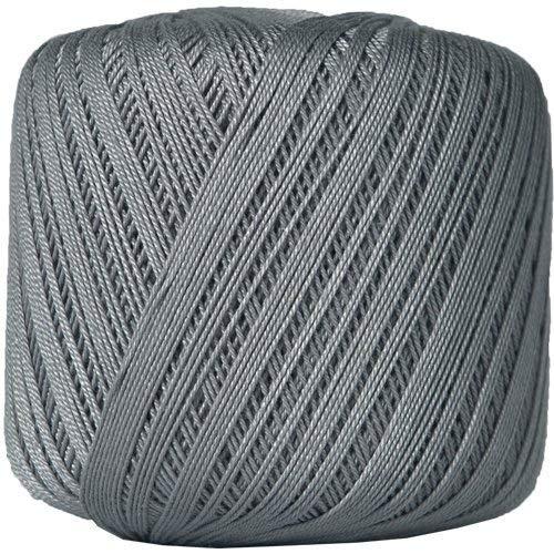Threadart Cotton Crochet Thread - Size 10 - Color 25 - Grey -2 Sizes 27 Colors Available ()