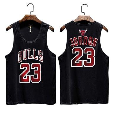 Bulls No. 23 Jordan Camiseta sin Mangas de Baloncesto de la Calle ...