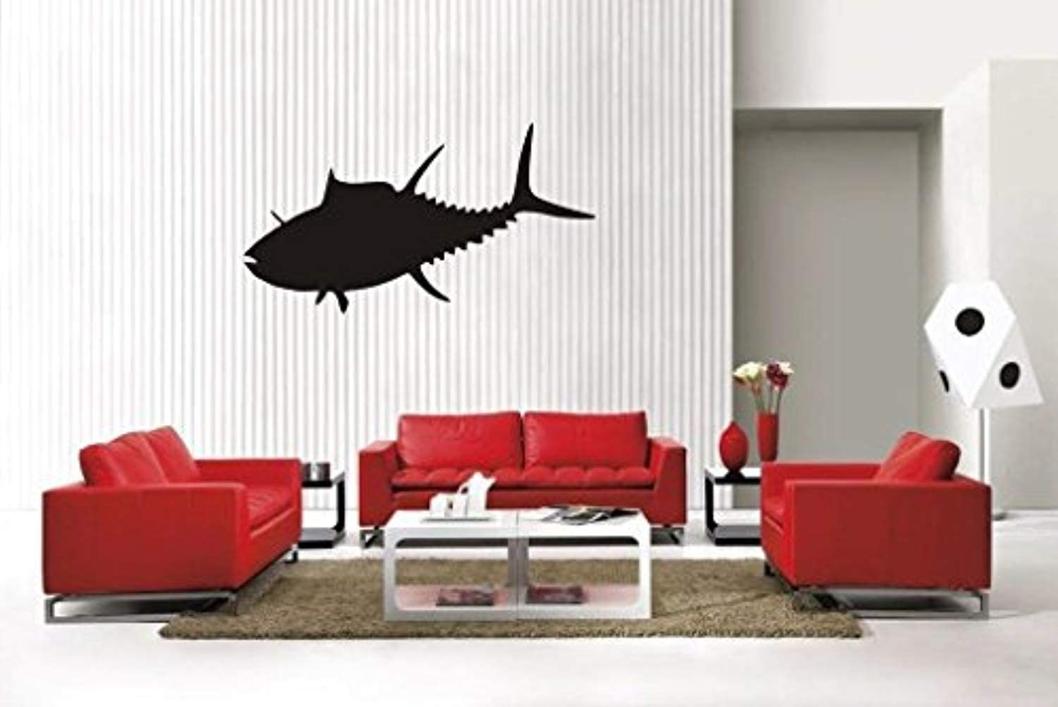 A Design World Home Quotes Wall Stickers Tuna Fish Sty3 Removable Vinyl Wall Decal Home Decor for Bedroom Living Room Office Family