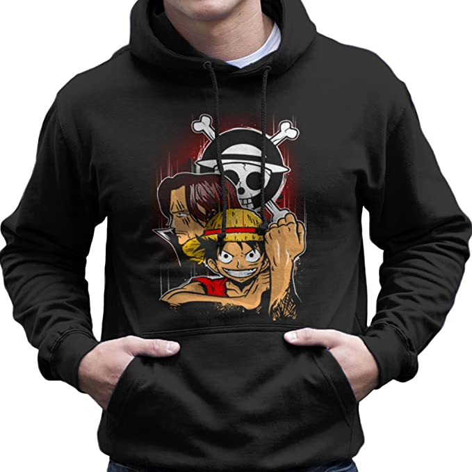 Pirate King Monkey D Luffy One Piece Mens Hooded Sweatshirt