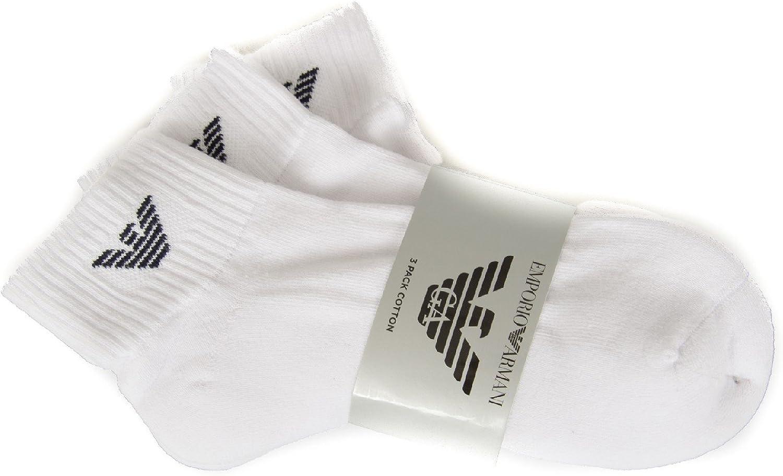 Emporio Armani Pack de 3 pares calcetines esponja dentro artículo 302202 CC195: Amazon.es: Ropa y accesorios