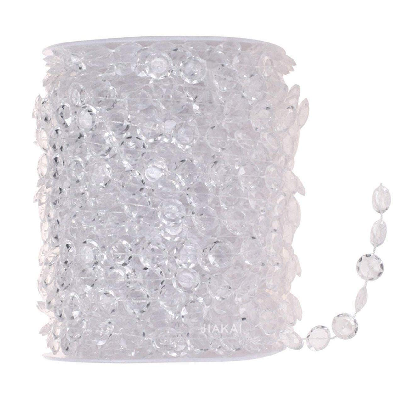 99FT Acrylic Plastic Crystal Clear Beads String for Chandelier Curtains for Doorways Decoration JIAKAI 4337027818