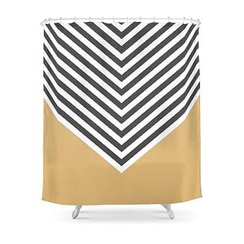 Society6 Gold Chevron Shower Curtain 71quot