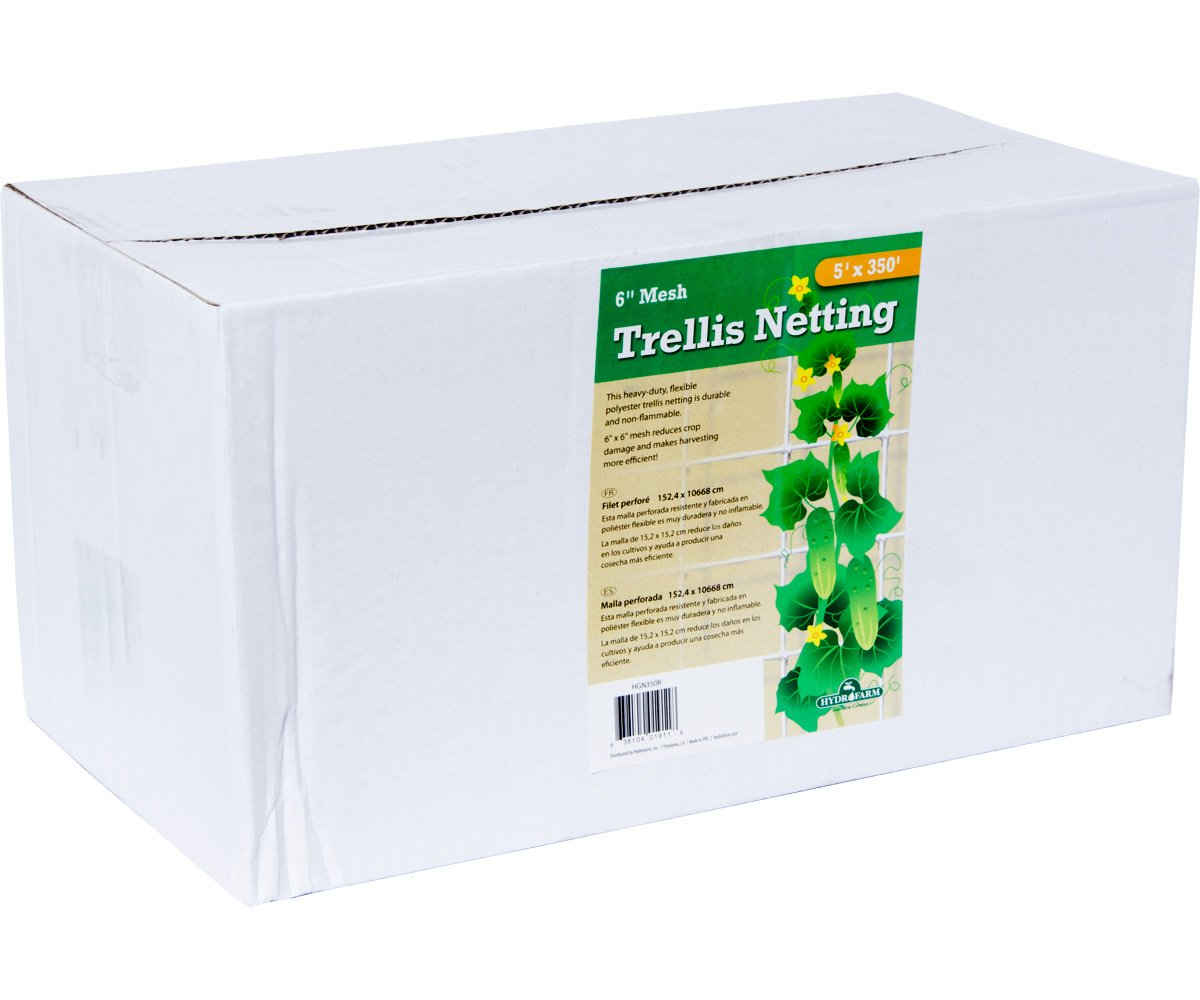 Trellis Netting, 5' x 350' Roll, 6'' Mesh