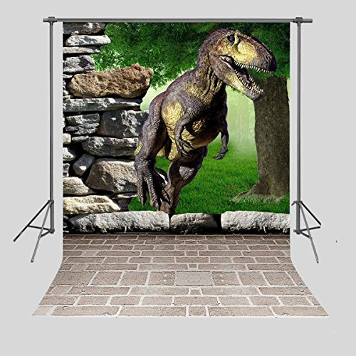 FUERMOR Customized Photo Background 5X7FT Dinosaur Photography Backdrops Props Photo Studio A713 by FUERMOR