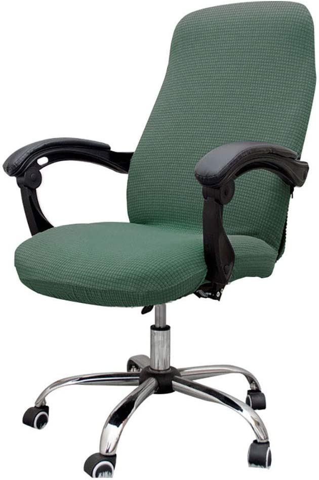 Melanovo Computer Office Chair Covers, Universal Stretch Desk Chair Cover for Rotating High Back Chair (Matcha Green)