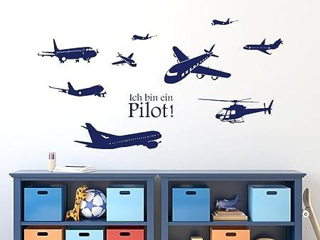 GRAZDesign Kinderzimmer Deko Junge Wandsticker Pilot Set ...