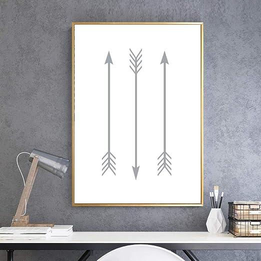 Lonas de flechas grises, pintura Arte de viveros Carteles Impresiones Cuadros modernos para niños Decoración de la pared Decoración para el hogar 60x80 cm sin marco: Amazon.es: Bricolaje y herramientas