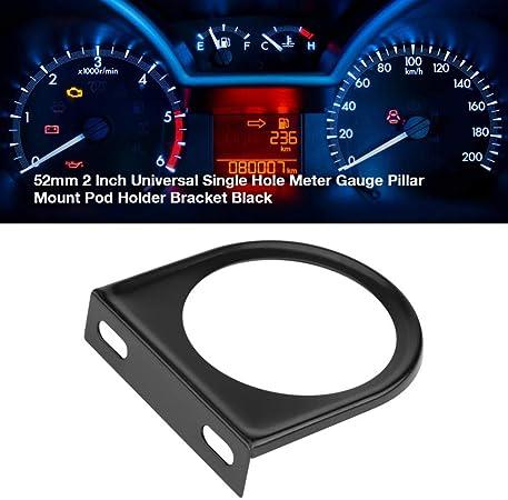 Messgerät Halter Auto Gauge Halterung Bracket Instrumentenhalter 52mm 2 Zoll Universal Einlochmessgerät Manometer Säulenhalterung Pod Halter Schwarz Auto
