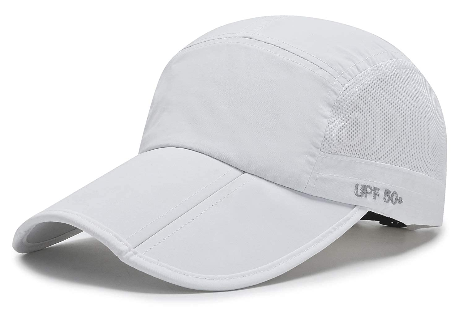 ELLEWIN Unisex Baseball Cap UPF 50 Unstructured Hat with Foldable Long Large Bill
