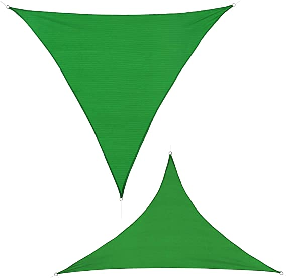 BB Sport Toldo Vela 3.5m x 3.5m x 4.95 m Esmeralda Triangular HDPE Vela Sombra Protección Rayos UV 90% Transpirable: Amazon.es: Jardín