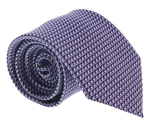 (Ermenegildo Zegna Light Purple Cubic Grid Tie for mens )
