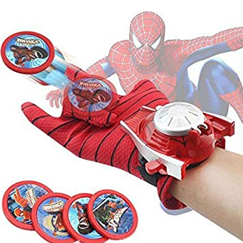 BonZeaL Spiderman Disc Launcher Single Hand Glove Birthday Gifts For Kids Children 5 6 7 8
