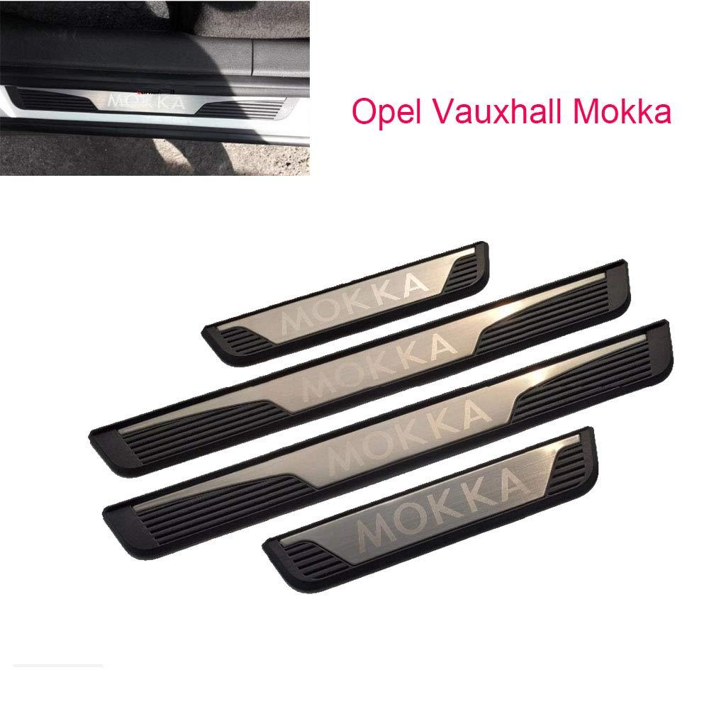 Battitacco auto per porta Mokka colore argento accessorio per porte 2014-2018