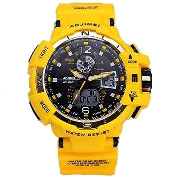 WULIFANG Deportes Impermeable Reloj Reloj De Hombre De Goma Exterior Moda Militar Digital Led Watch Watch