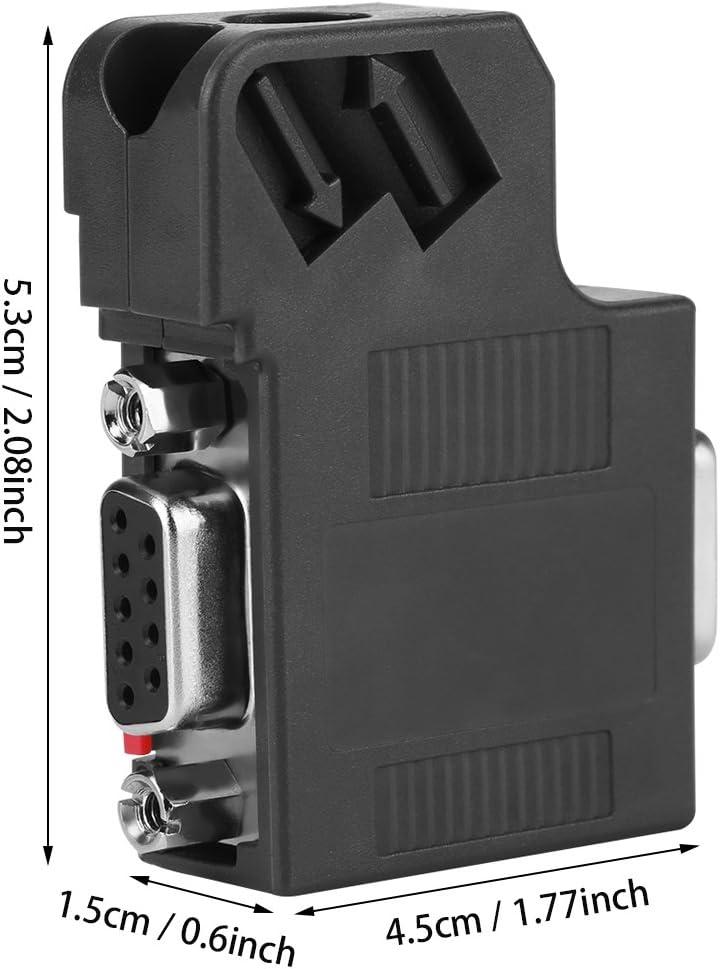 Akozon DP Data Connector 1pcs 6ES7 972-0BB41-0XA0 DP Plug Profibus Bus Connector Adapter Electronic Data Systems