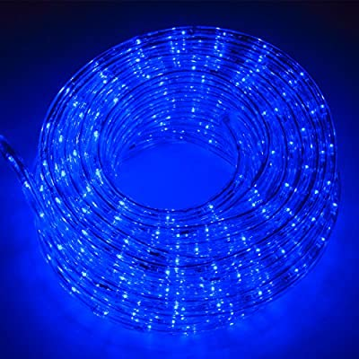 WALCUT Flexible 50FT 540 LED 2 WireCrystal Clear PVC Tubing LED Rope Light Indoor/Outdoor Boat Decorative Party Christmas Holiday Business Restaurant Light Kit 110V
