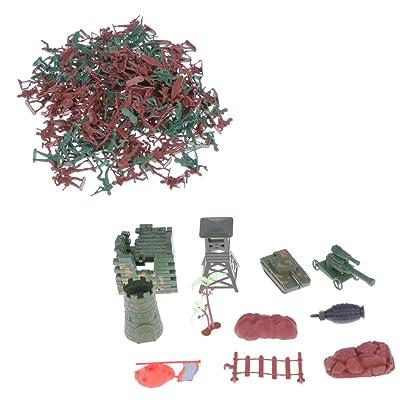 238pcs / Lot De Combat De L'armée Jouets Jeu Soldat Mis En Sac à Dos Avec Fermeture éclair 3cm
