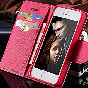 Hot! Cross Pattern Flip Leather Case For iPhone 4 4S Wallet Stand Holder & Credit Card Slot Cover For iphone 4S Bag Pouch - Color black