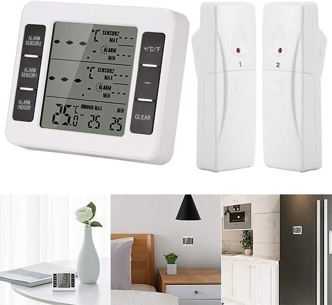 OurLeeme Termómetro inalámbrico para congelador, termómetro para ...