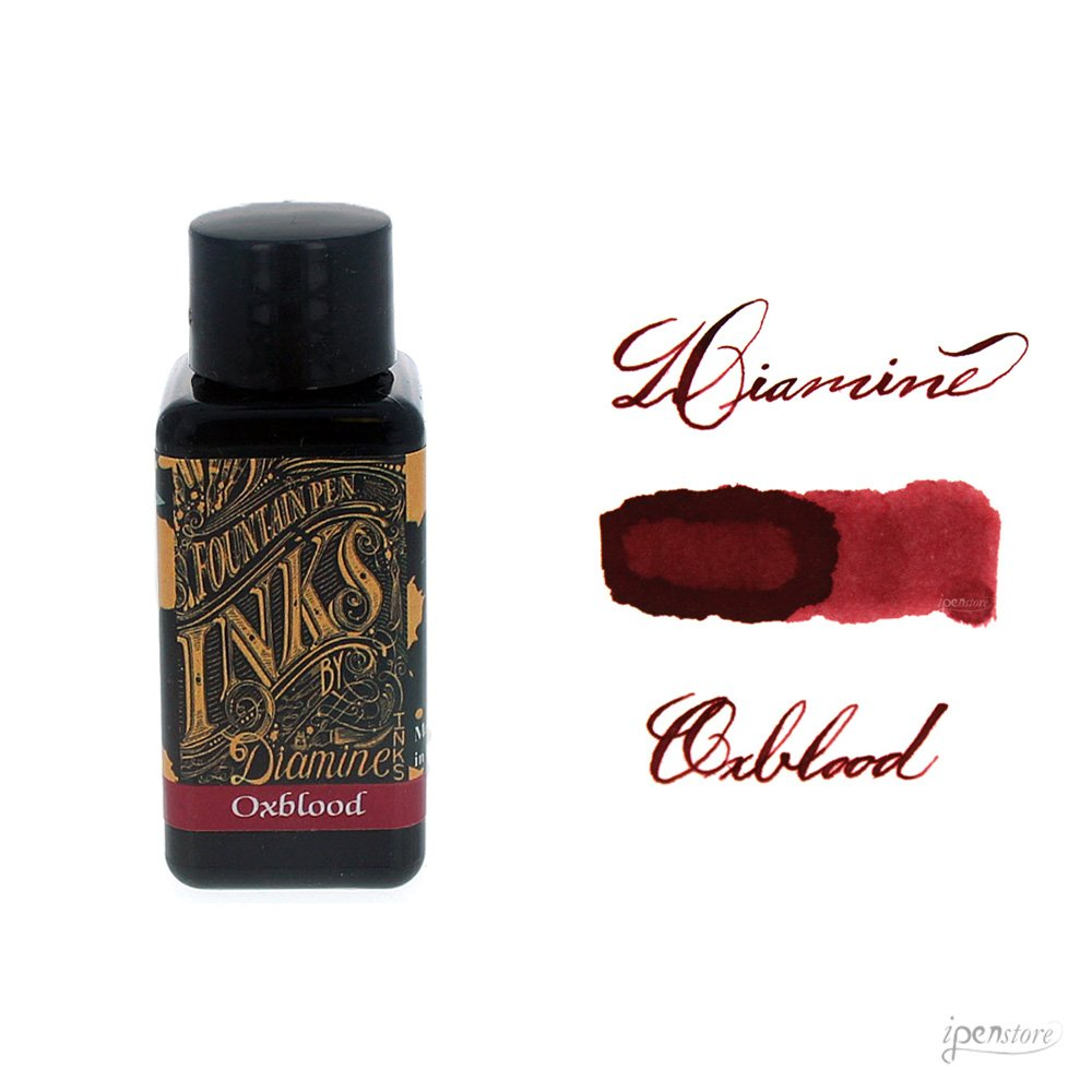 Diamine 30ml Oxblood fountain pen ink bottle 0700987828641