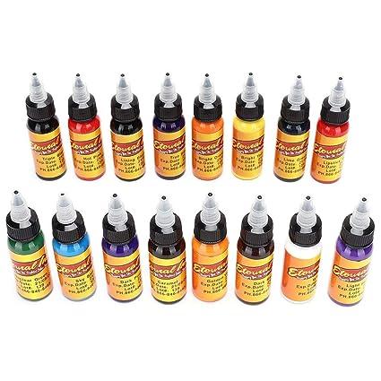 16 colores Tinta para tatuaje de cejas resistente al agua y ...
