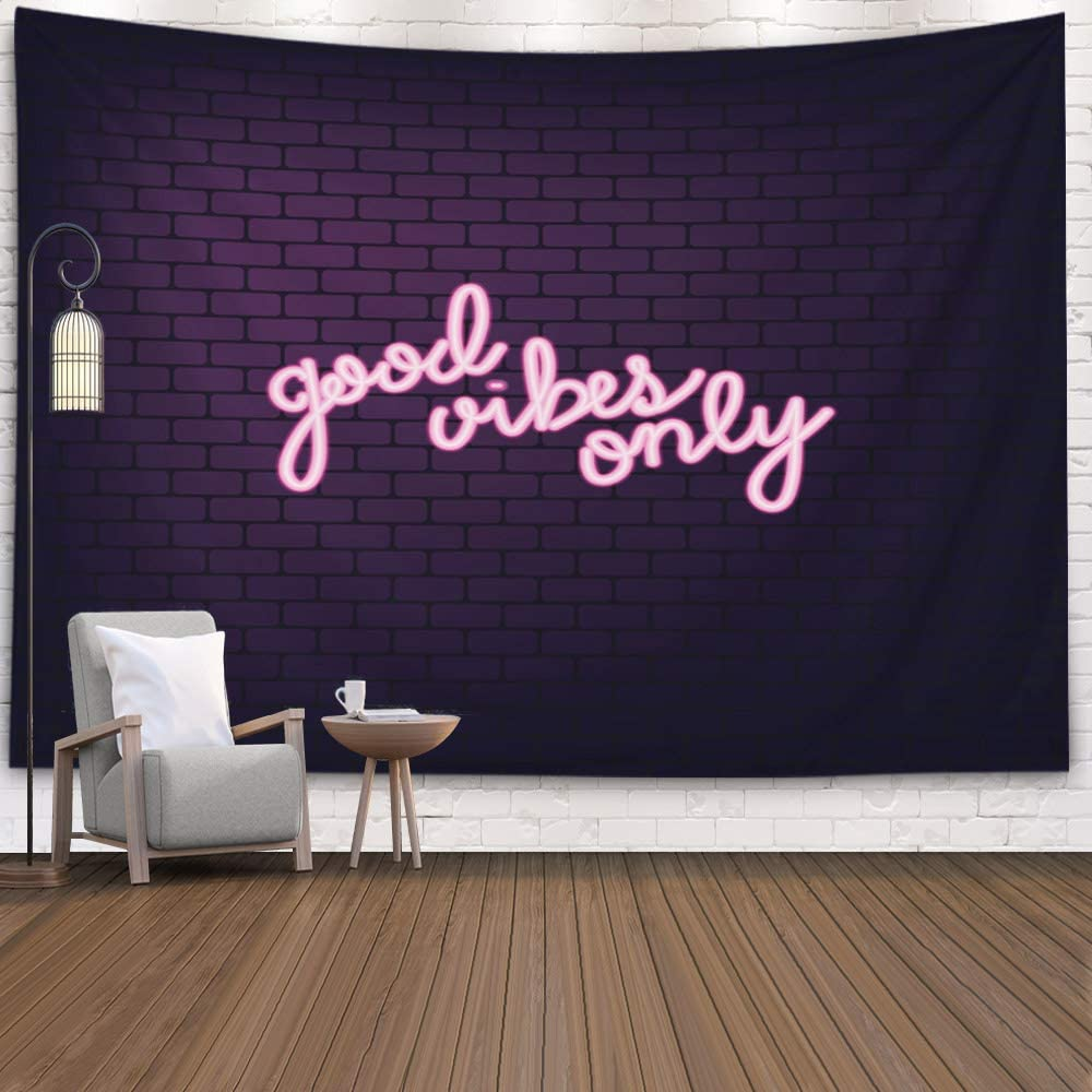 Teepel College Wall Decor Wall Tapestry for Bedroom Good Only Neon Effect Font Dorm Decorations 60X50 Inch Tapestry