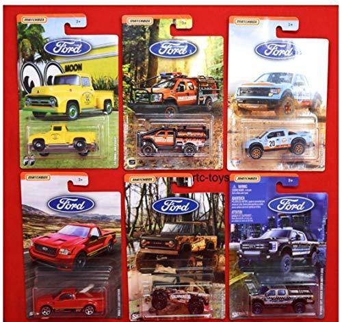 Matchbox Ford Trucks 2019 Series Complete Set of 6 Diecast Trucks ()