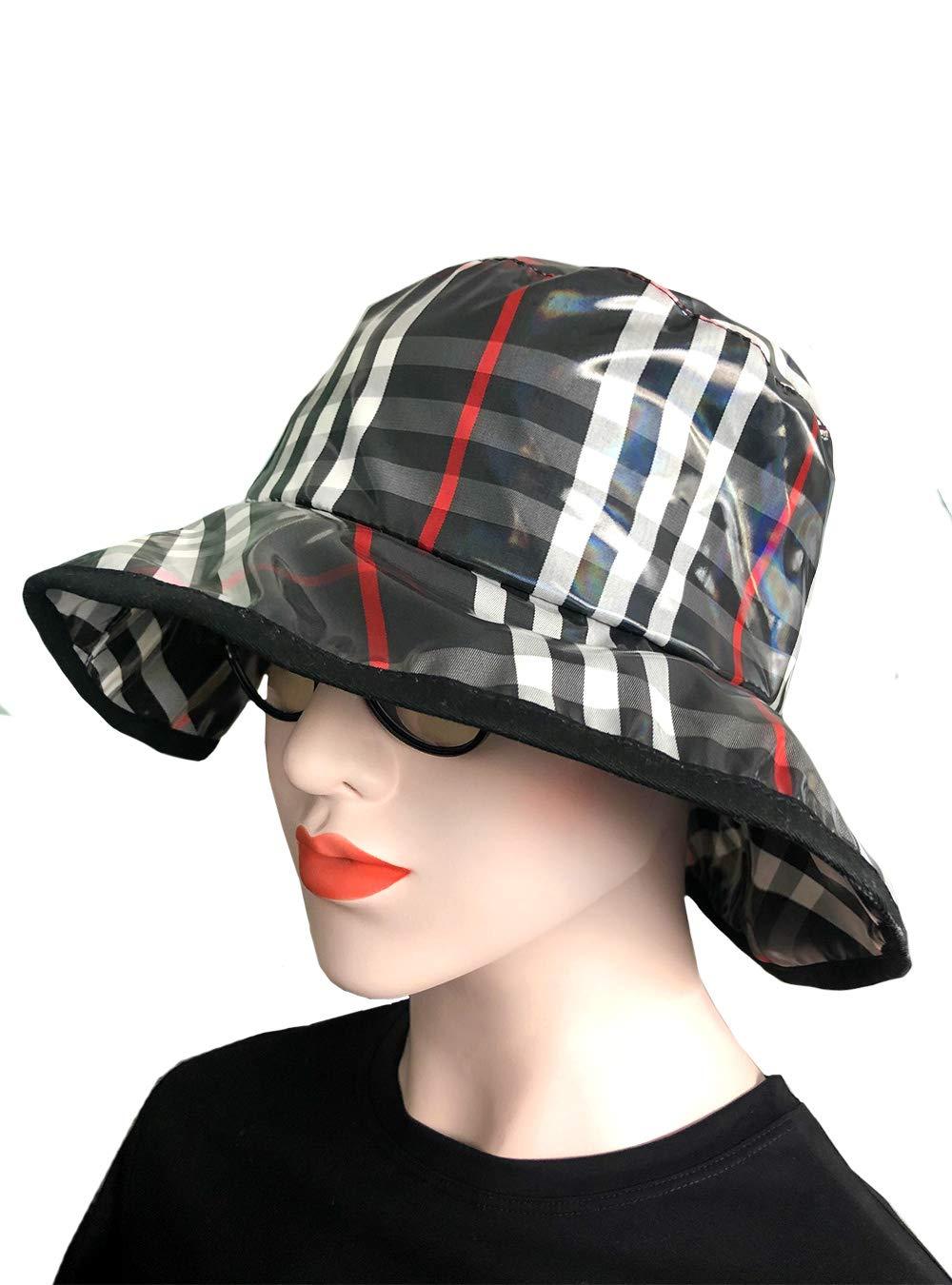 Luccy K Women's Rain Hats Waterproof Rain Hat Wide Brim Bucket Hat Rain Cap, Lk-chic35, One Size