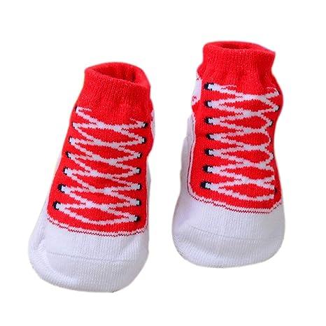 Scrox 1 Par Calcetines de bebé Recién Nacido 0-6 Zapatos Bebe niña ...