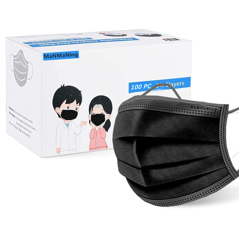 MaNMaNing Niños Infantil Negro con Elástico 100 Unidades para Los Oídos 20200723-MANING-NM100 B