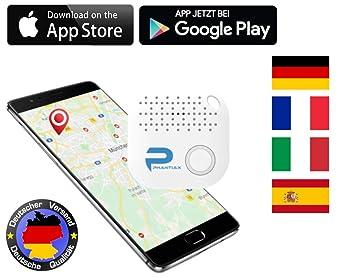 Phantiax Schlüsselfinder Check Weiß Keyfinder Mit Bluetooth App Gps Ortung Und Bewegungsmelder Zum Finden Von Schlüsseln Oder Handysmartphone