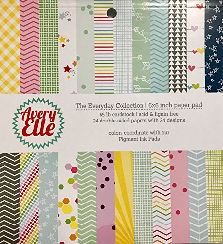 Polka Dot Cardstock - Avery Elle The Everyday Collection Paper Pad 65 lb Cardstock Double Sided 6x6 inches