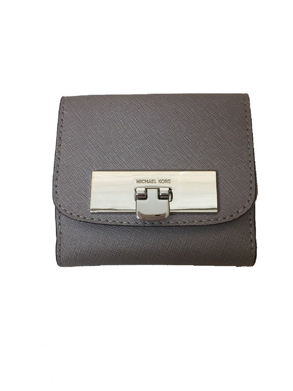 Michael Kors Women's Callie Trifold Coin Case Wallet Pearl Grey
