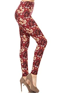 Leggings Depot Womens Ultra Soft Printed Fashion Leggings BAT18