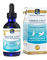 Nordic Naturals Omega 3 Pet - Fish Oil Liquid for Small Dogs and Cats, 2 Oz