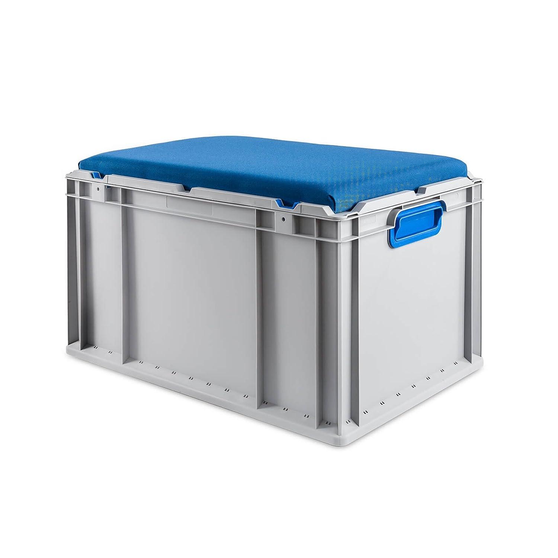 Eurobox Seat Box, Griffe geschlossen, 600x400x320mm, 1 St., blau ab-in-die-BOX.de