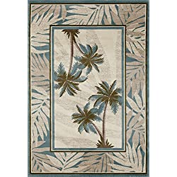 "Art Carpet Palm Coast Collection Tranquil Woven Area Rug, 5'3"" x 7'7"", Beige/Blue/Green"