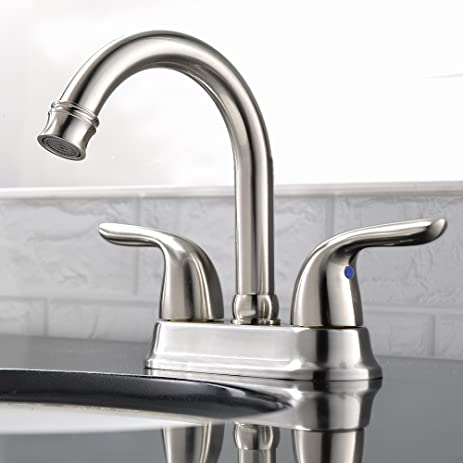Comllen Best Modern Stainless Steel Double Handle Bathroom Lavatory ...