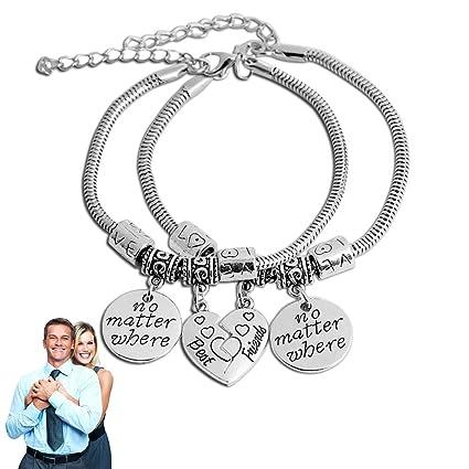 14eac5c95577 Brazaletes de los mejores amigos partido roto corazón pulseras dobles Set  pulsera de la amistad regalo