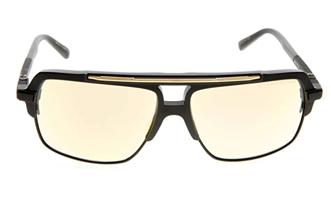 d6788212218e Amazon.com  Dita Mach-Four DRX-2070-B-BLK-61-Z Sunglasses Matte Black-18k  Gold screws 61mm  Clothing