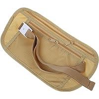 SODIAL(R) Bolsa billetera de pasaporte con cremallera cinturon