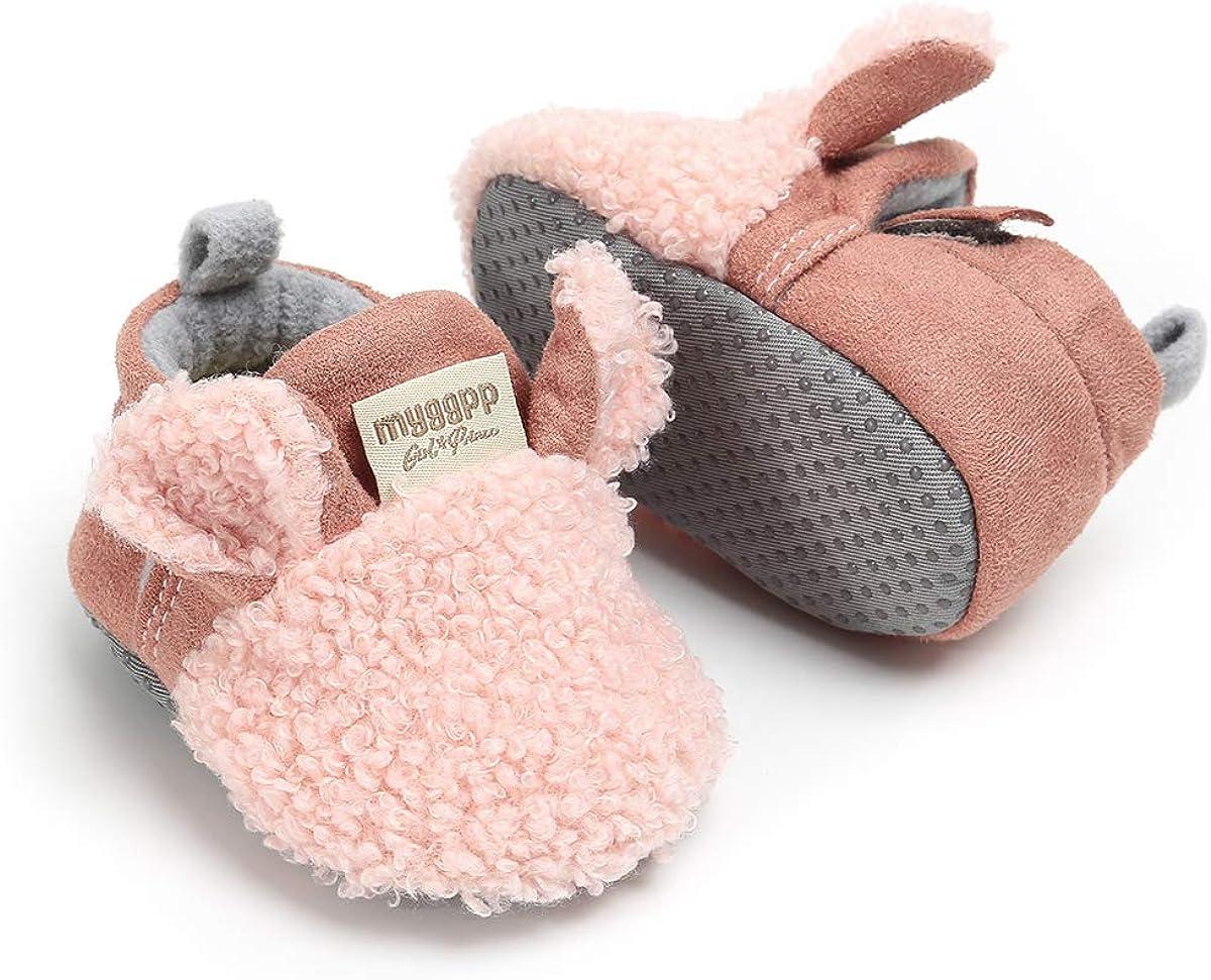 LACOFIA Baby Boys Girls Anti-Slip Soft Sole Winter Warm Booties