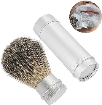 Brocha de afeitar, barba herramienta barba portátil cepillo para hombres Brocha de pelo mejor barba brocha de bigote, aseo presente conjunto: Amazon.es: Belleza