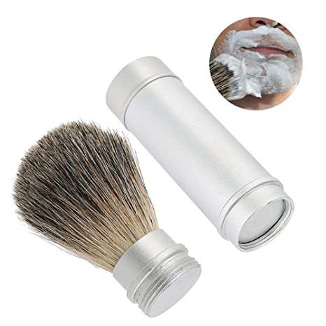 Brocha de afeitar, barba herramienta barba portátil cepillo para hombres Brocha de pelo mejor barba